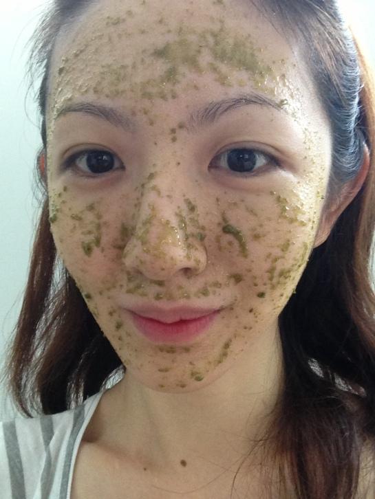 thebarebeauty green tea honey mask