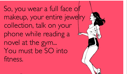 wearing makeup to gym